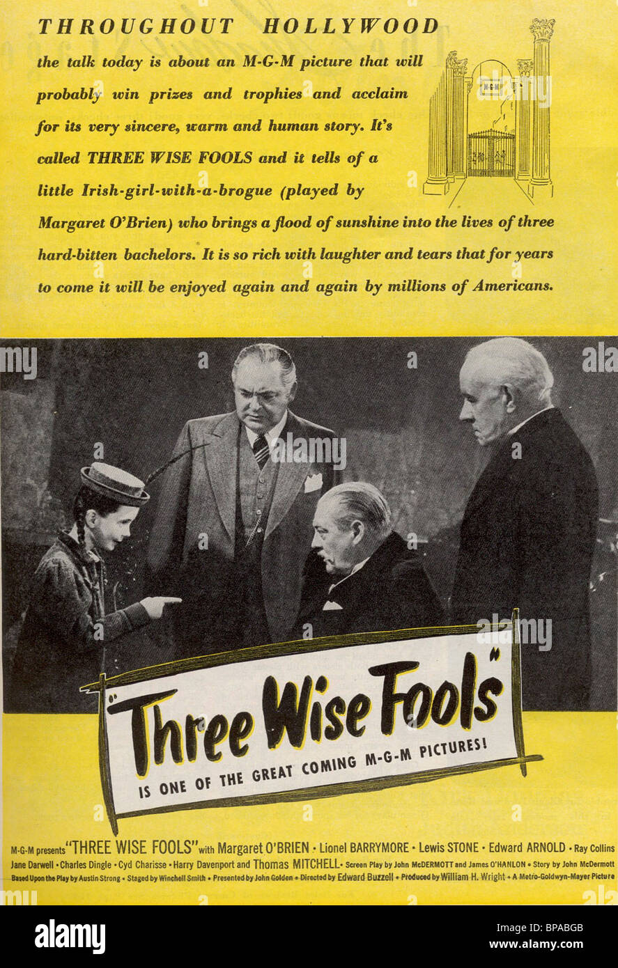 FILM POSTER THREE WISE FOOLS (1946) - Stock Image