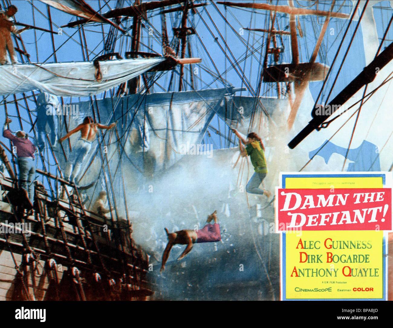 BATTLE SCENE H.M.S. DEFIANT; DAMN THE DEFIANT (1962) - Stock Image