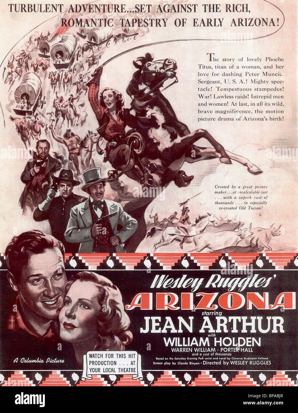 FILM POSTER ARIZONA (1940) - Stock Image