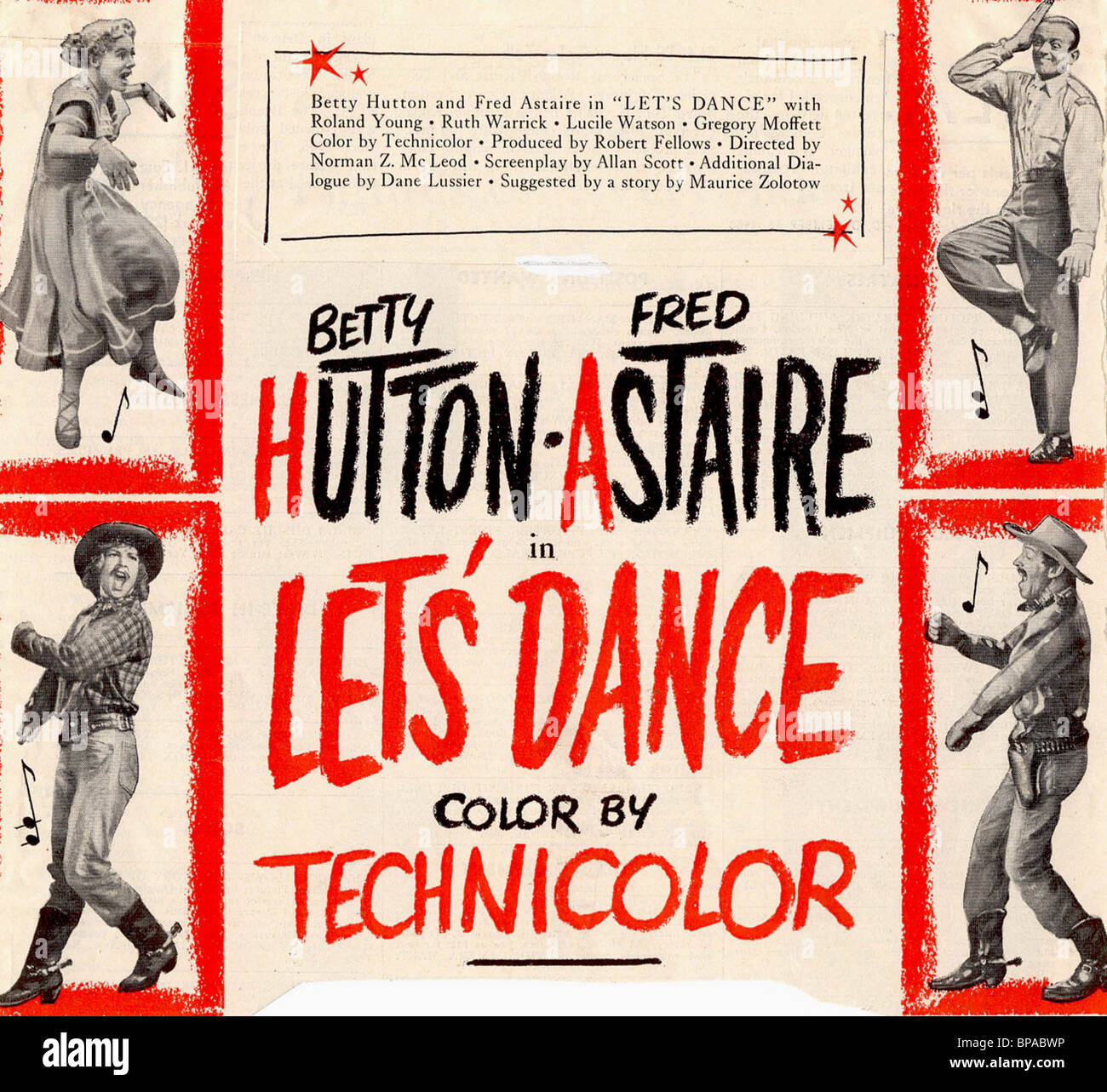 Film Poster Let S Dance 1950 Stock Photo Alamy
