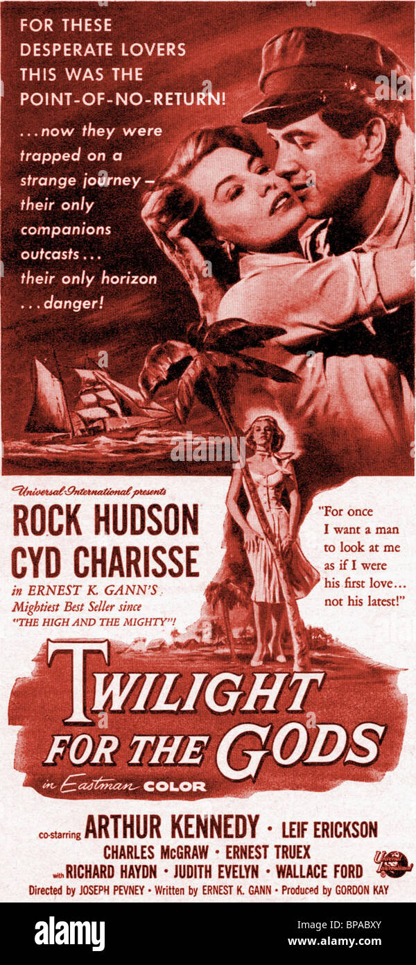FILM POSTER TWILIGHT FOR THE GODS (1958) - Stock Image
