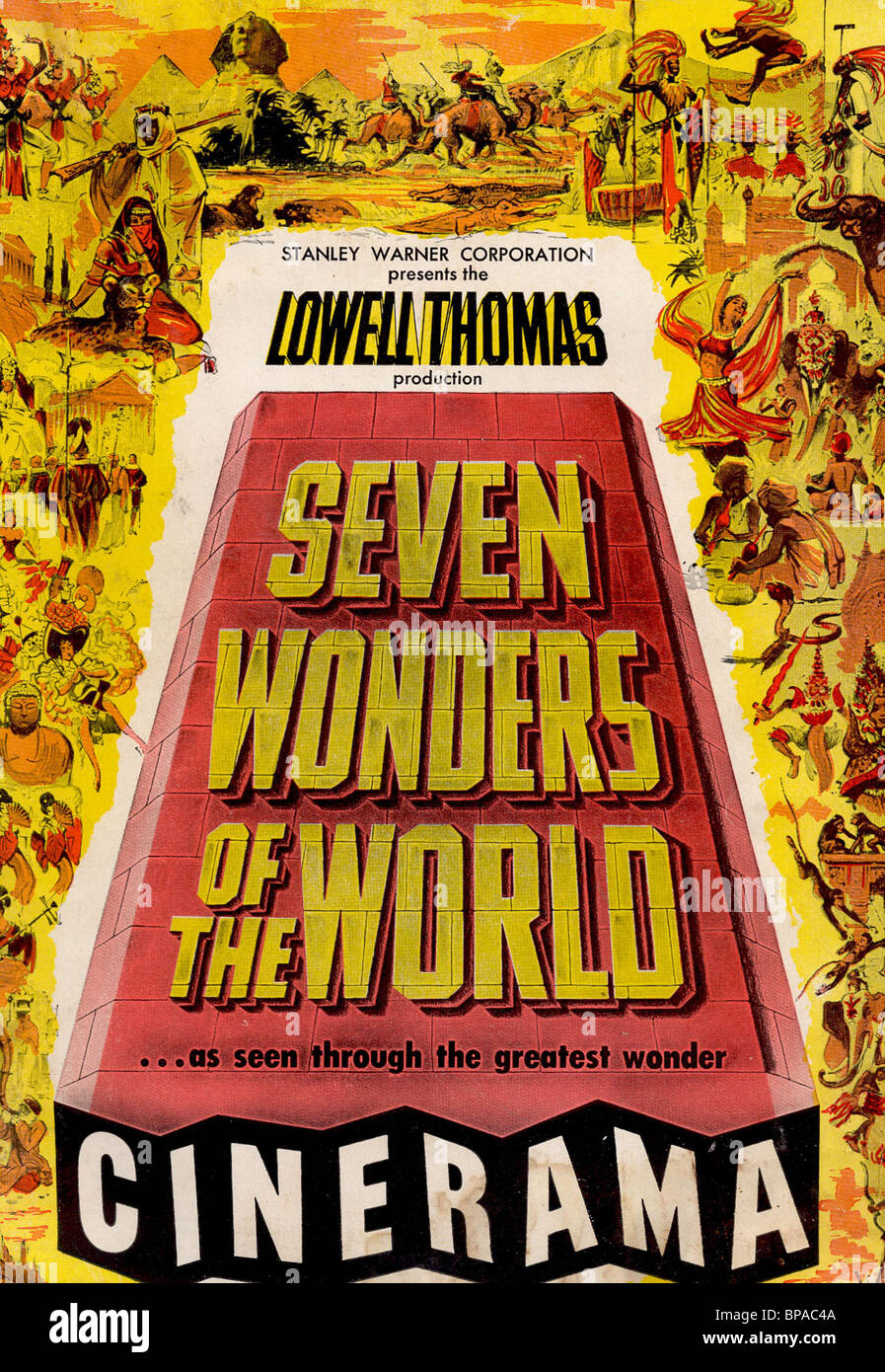 FILM POSTER SEVEN WONDERS OF THE WORLD (1956)Stock Photo