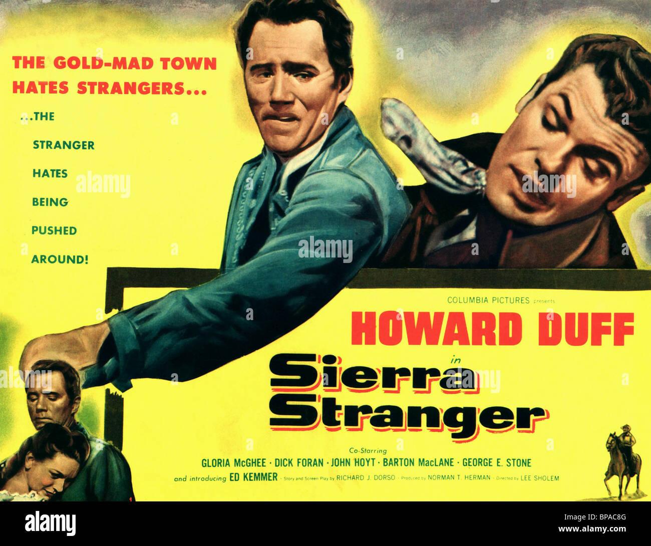 FILM POSTER SIERRA STRANGER (1957) - Stock Image