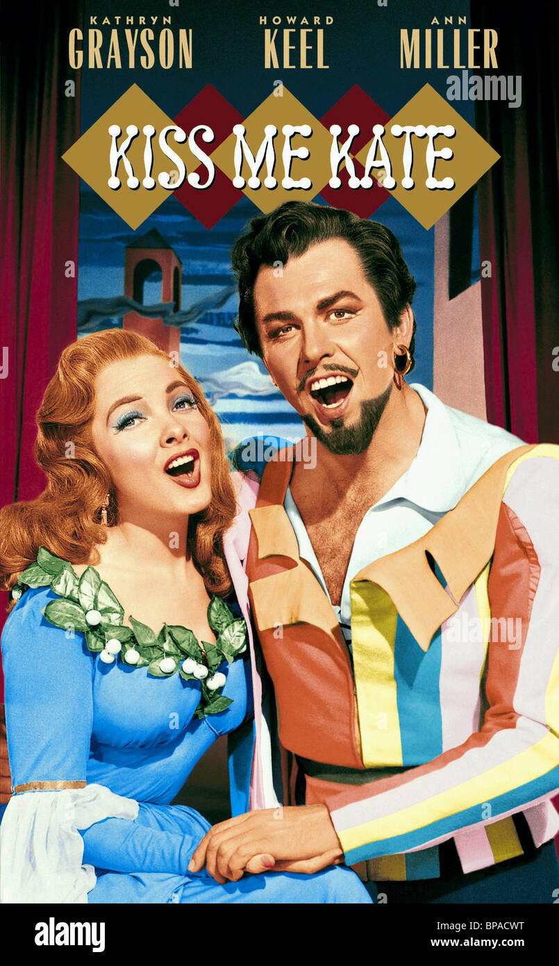 KATHRYN GRAYSON & HOWARD KEEL KISS ME KATE (1953) - Stock Image