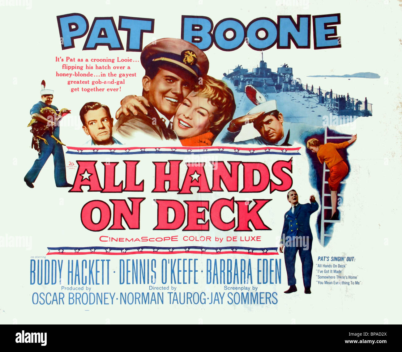 FILM POSTER ALL HANDS ON DECK (1961) - Stock Image