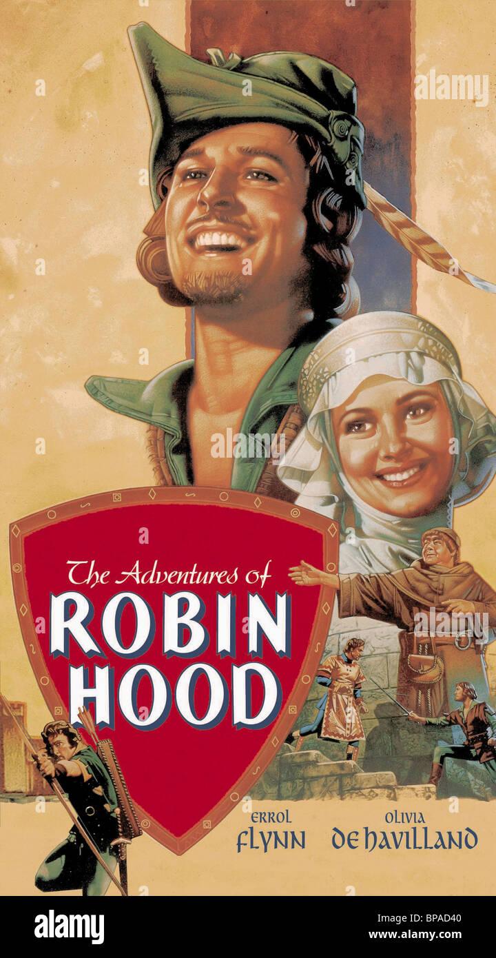 adventures robin hood 1938 olivia stock photos