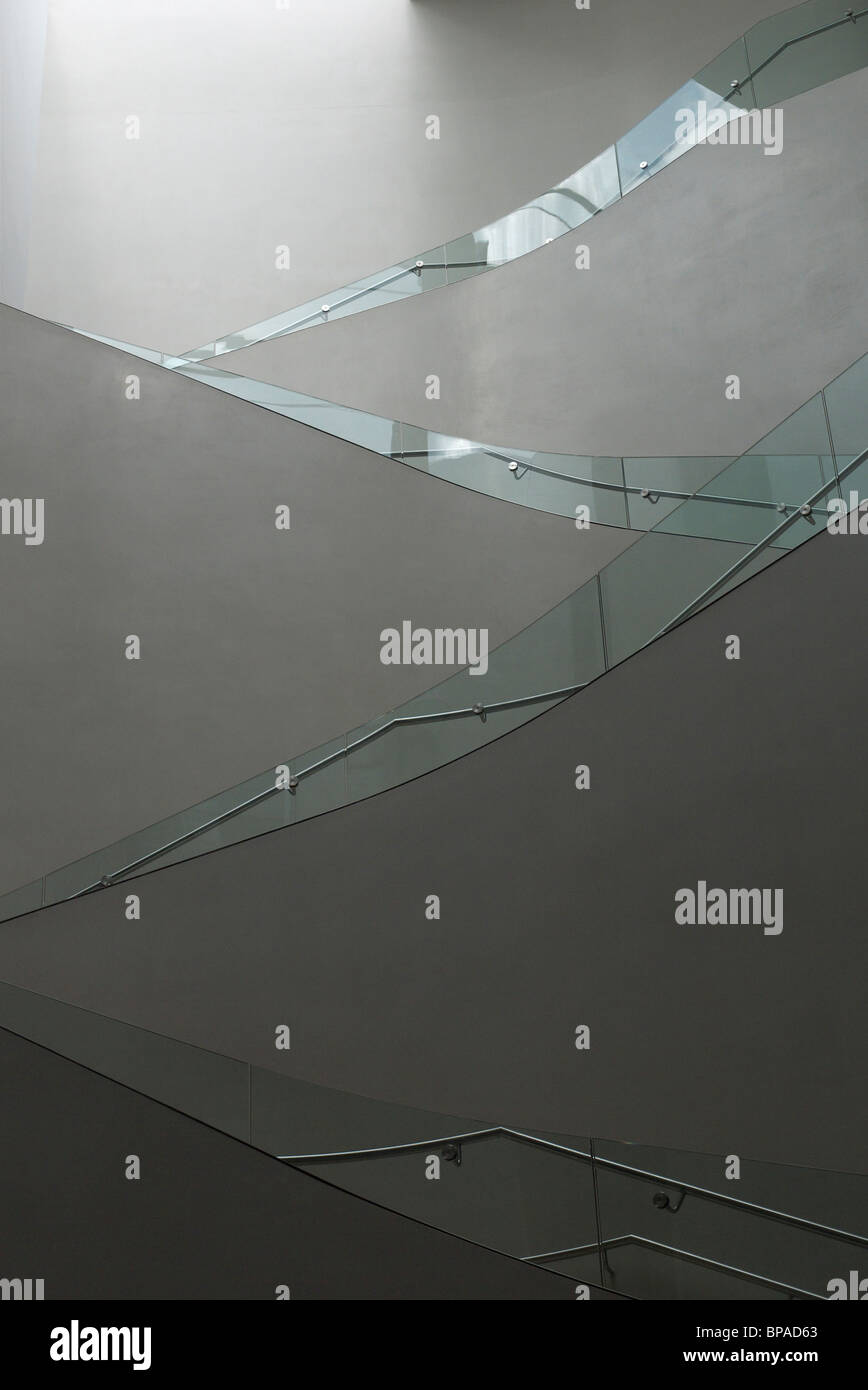 Flight of stairs in the Ashmolean Museum Oxford - Stock Image