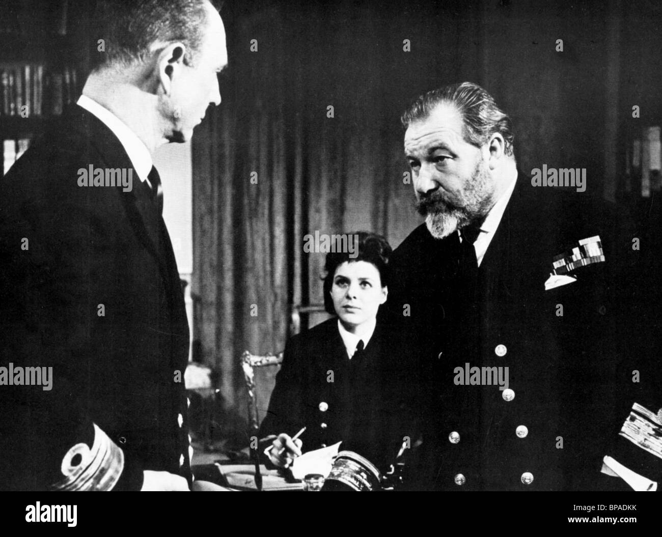 ROBERT FLEMYNG, JAMES ROBERTSON JUSTICE, MYSTERY SUBMARINE, 1963 - Stock Image