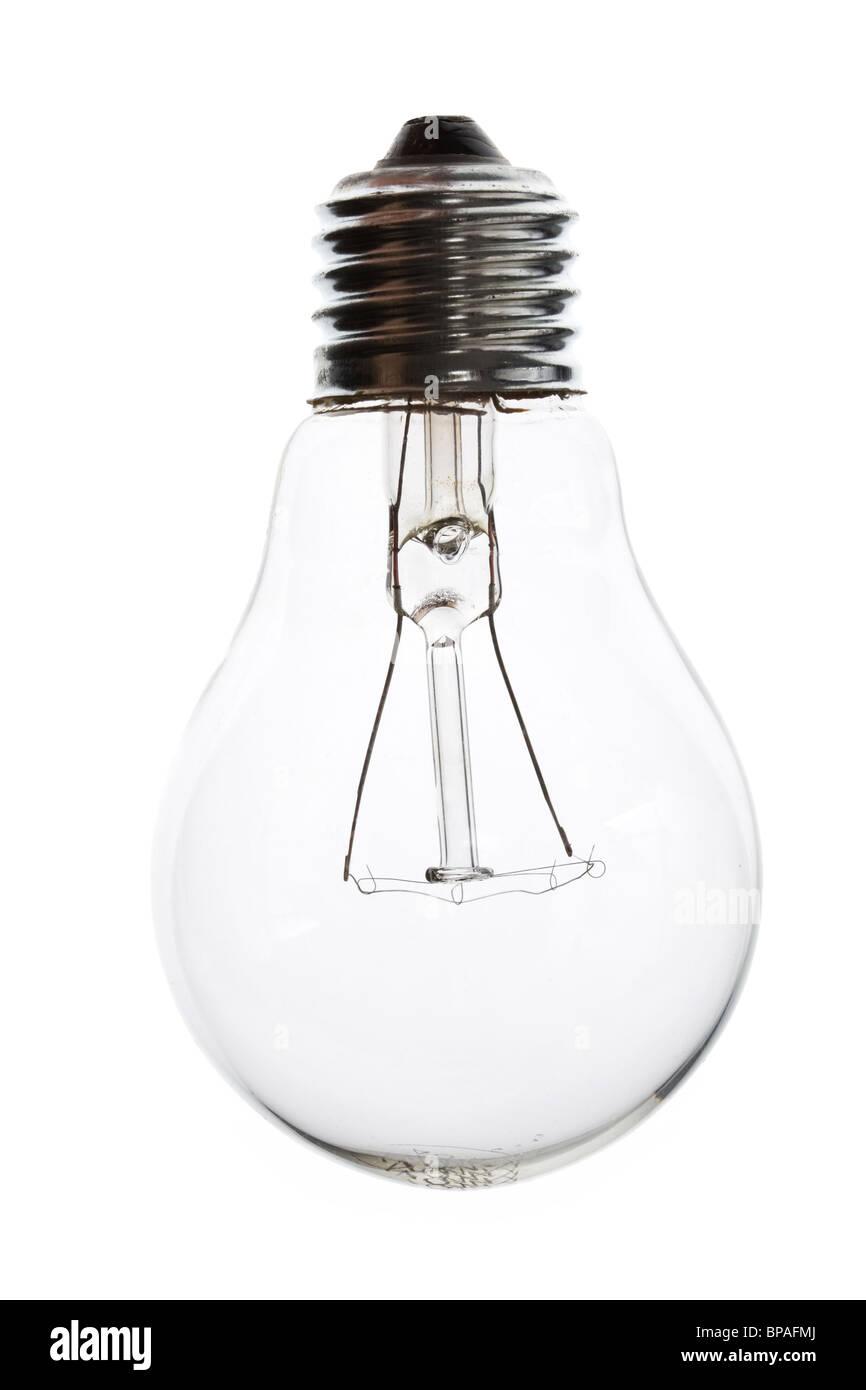Light Bulb close up shot - Stock Image