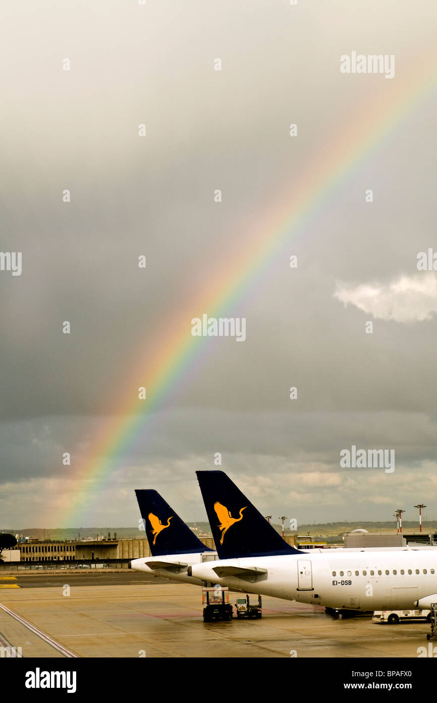 airport and fly, Rome Fiumicino airport - Stock Image