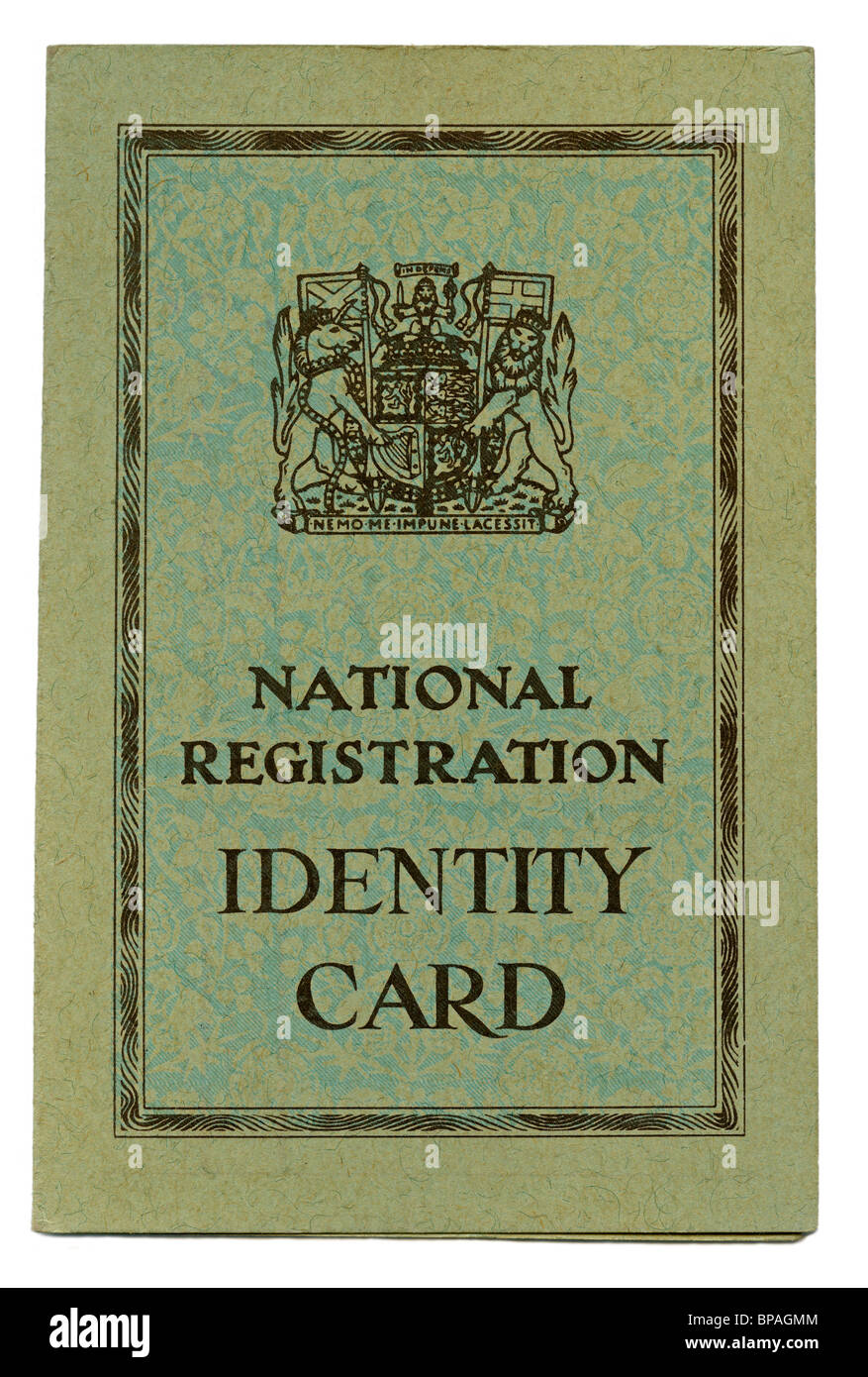 British National Identity Card from World War 2 - Stock Image