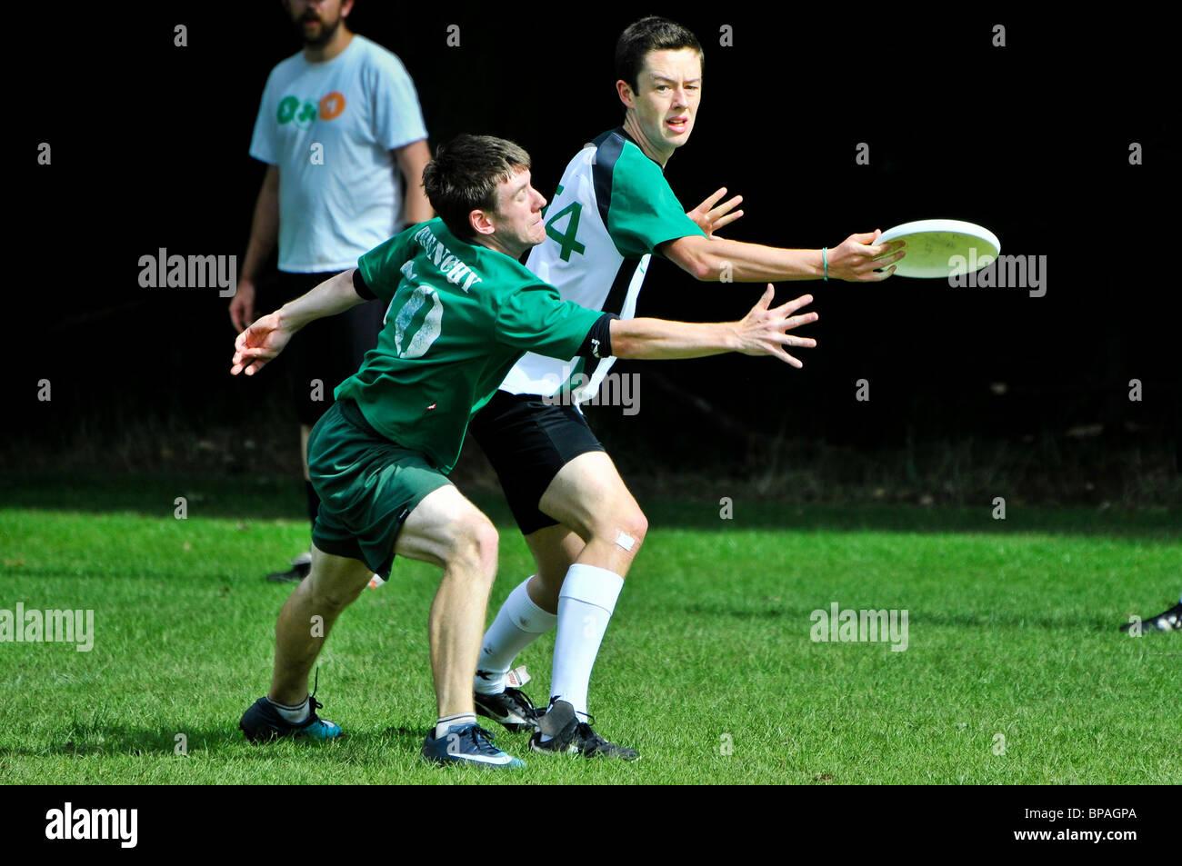 All Ireland Ultimate Frisbee Championships 2010. Belfast, 22/08/2010 - Stock Image