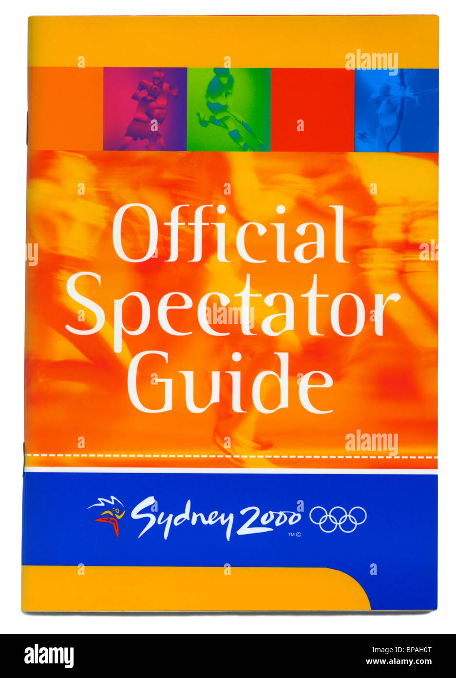 Official Spectator Guide to the 2000 Sydney summer Olympic Games, Sydney, New South Wales, Australia - Stock Image