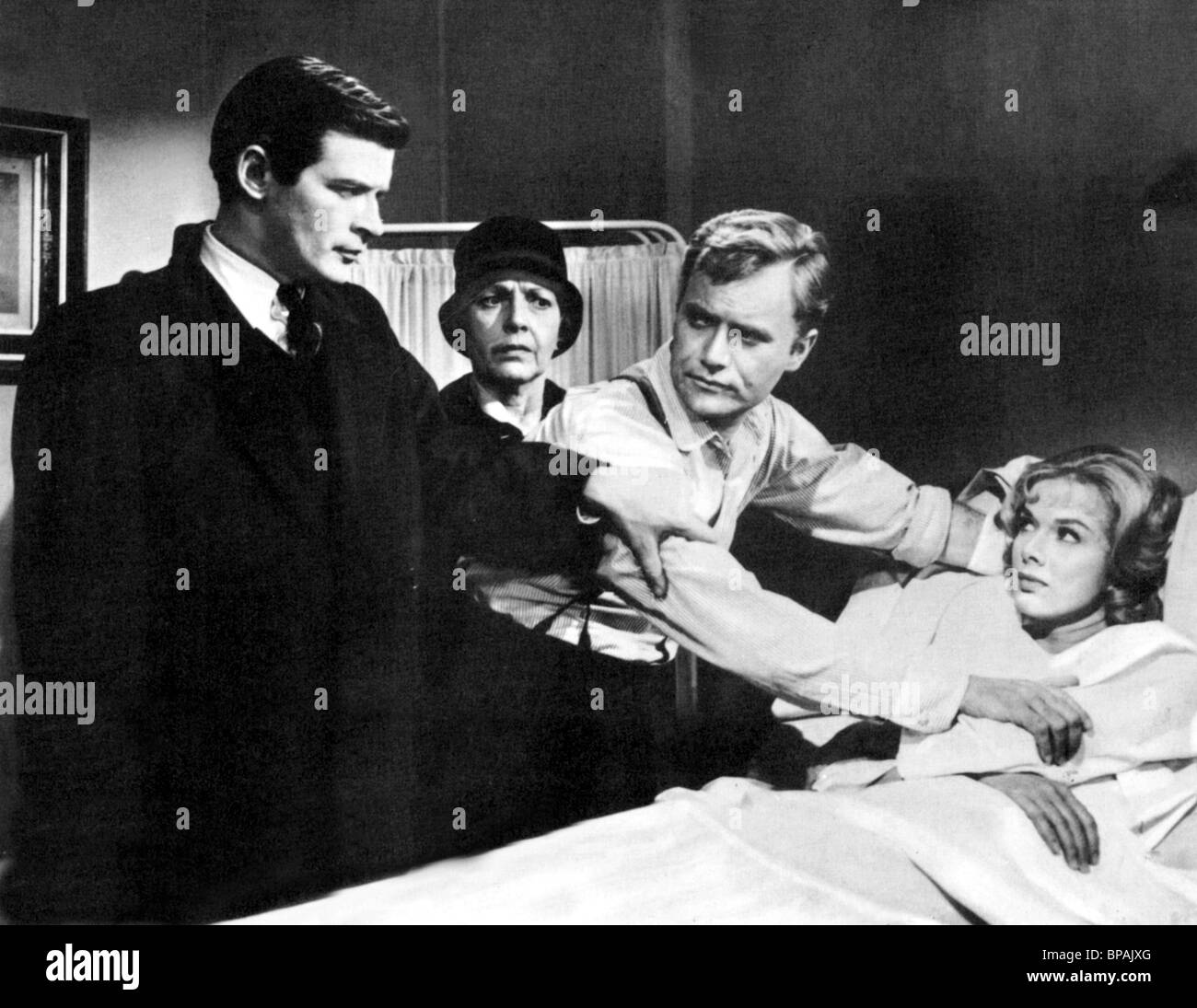 RAY DANTON, VIC MORROW, LESLIE PARRISH, PORTRAIT OF A MOBSTER, 1961 - Stock Image