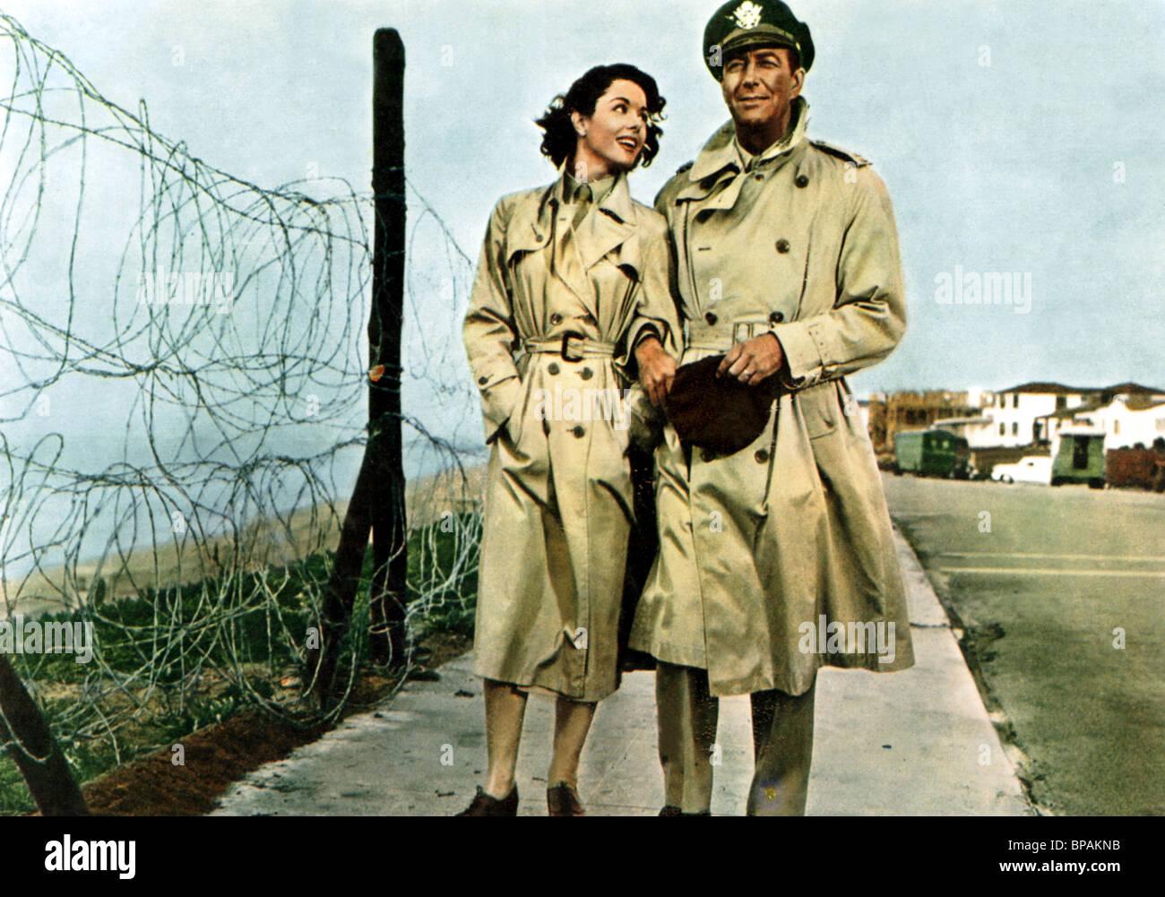 DANA WYNTER, ROBERT TAYLOR, D-DAY THE SIXTH OF JUNE, 1956 - Stock Image