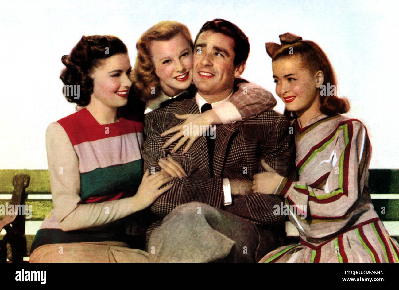 PATRICIA MARSHALL, JUNE ALLYSON, PETER LAWFORD, JOAN MCCRACKEN, GOOD NEWS, 1947 - Stock Image