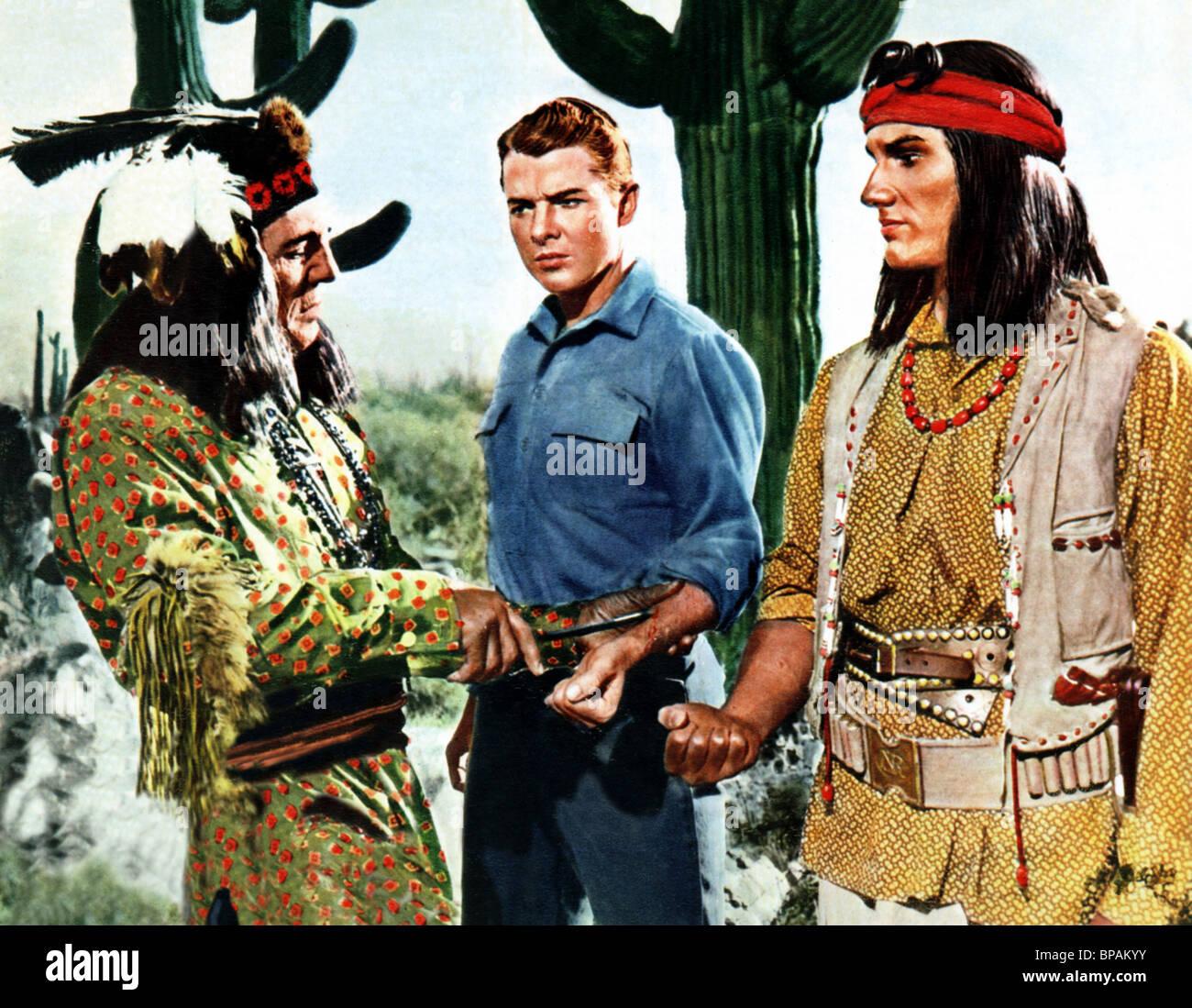 510f164b44a JAY SILVERHEELS AUDIE MURPHY   TOMMY RALL WALK THE PROUD LAND (1956) - Stock