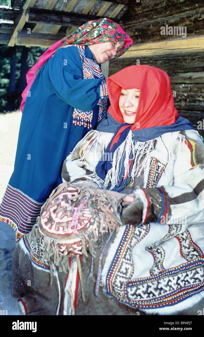 Khanty folk clothing - Stock Image