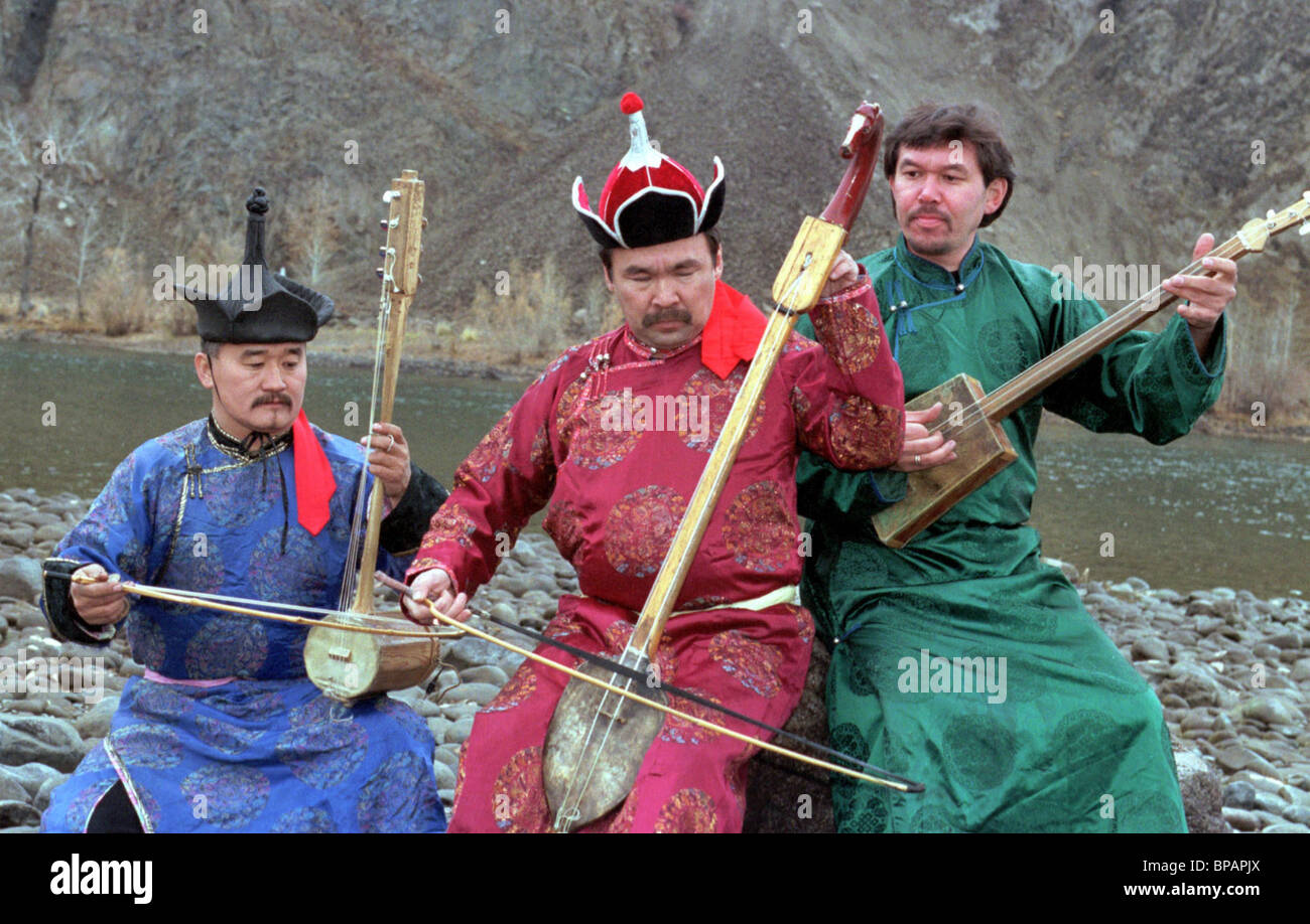 Hun-huur-tu Tuva folk music ancemble. - Stock Image