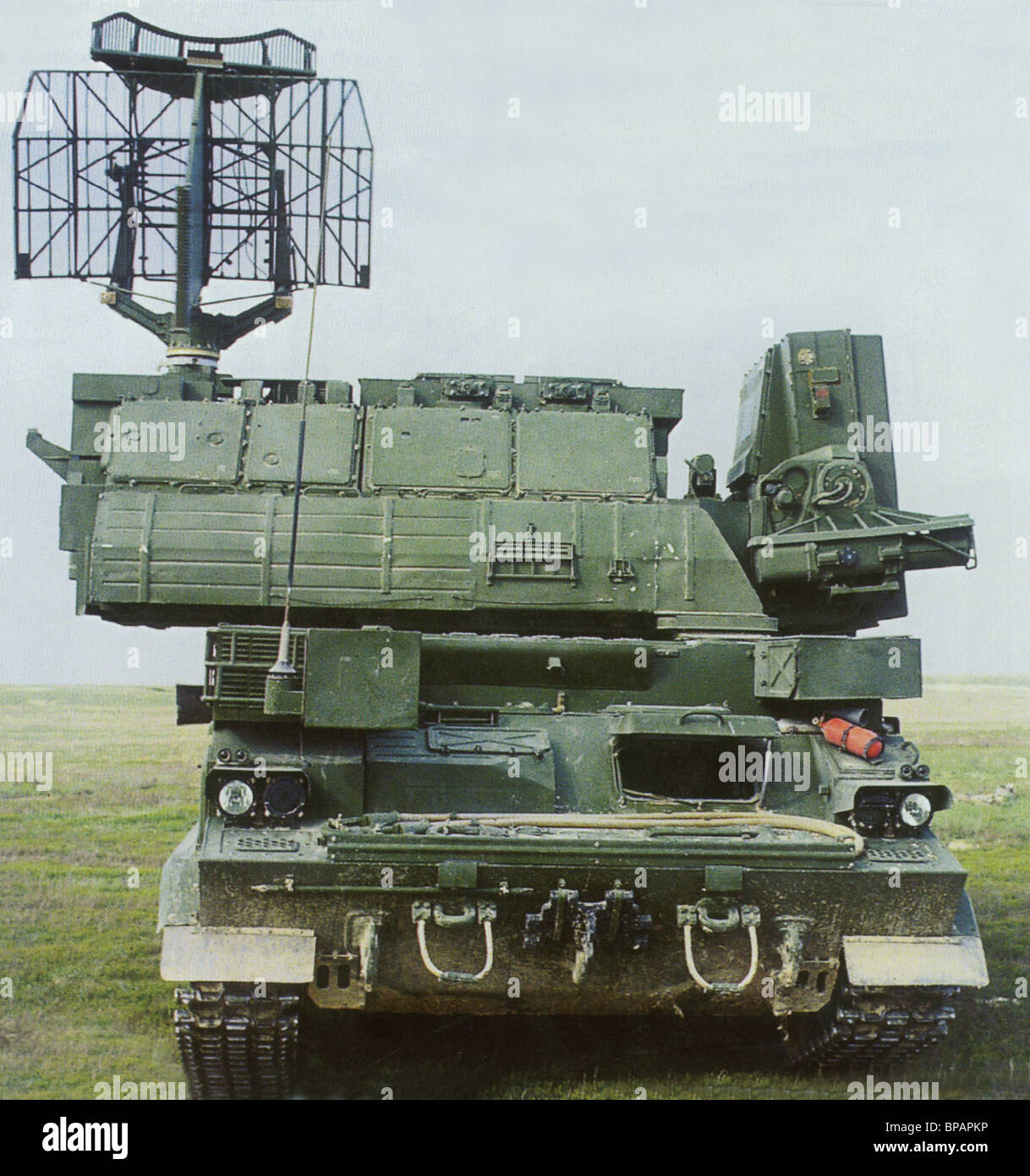 A Tor-M1 anti-aircraft missile complex - Stock Image