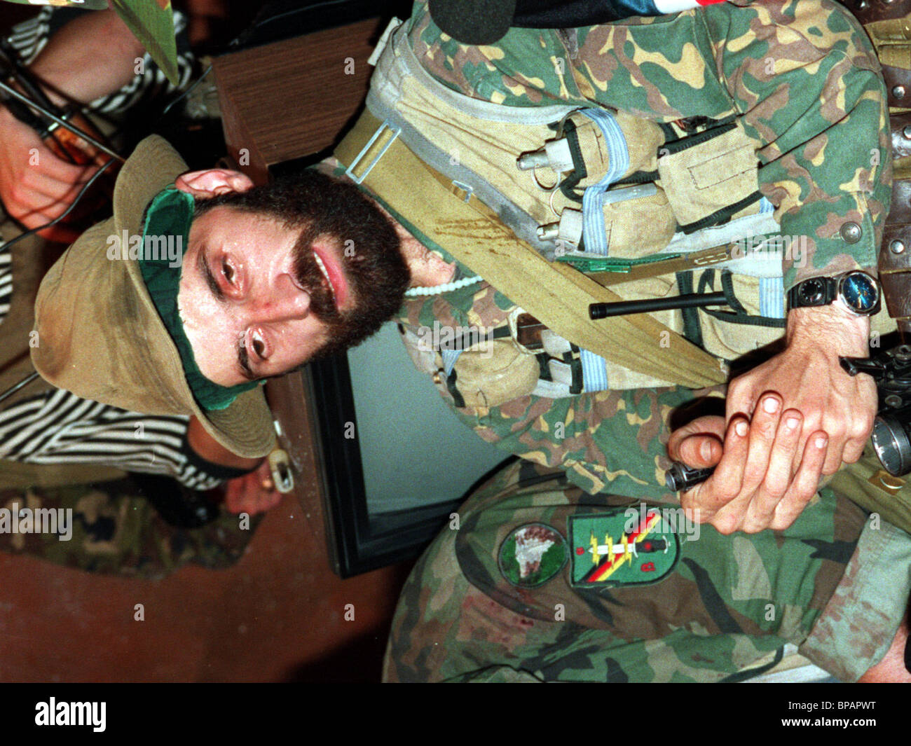 Shamil Basayev. Chechen leader who gained notoriety due to an armed raid on the Russian city of Budennovsk in summer - Stock Image