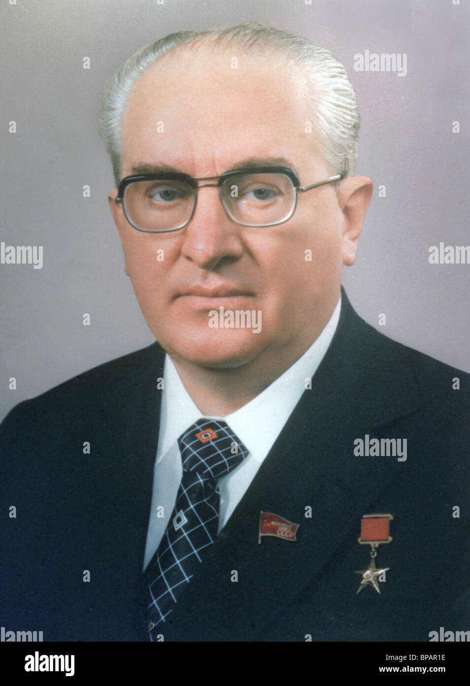 General Secretary of the CPSU Yuri Andropov, 1982 - Stock Image