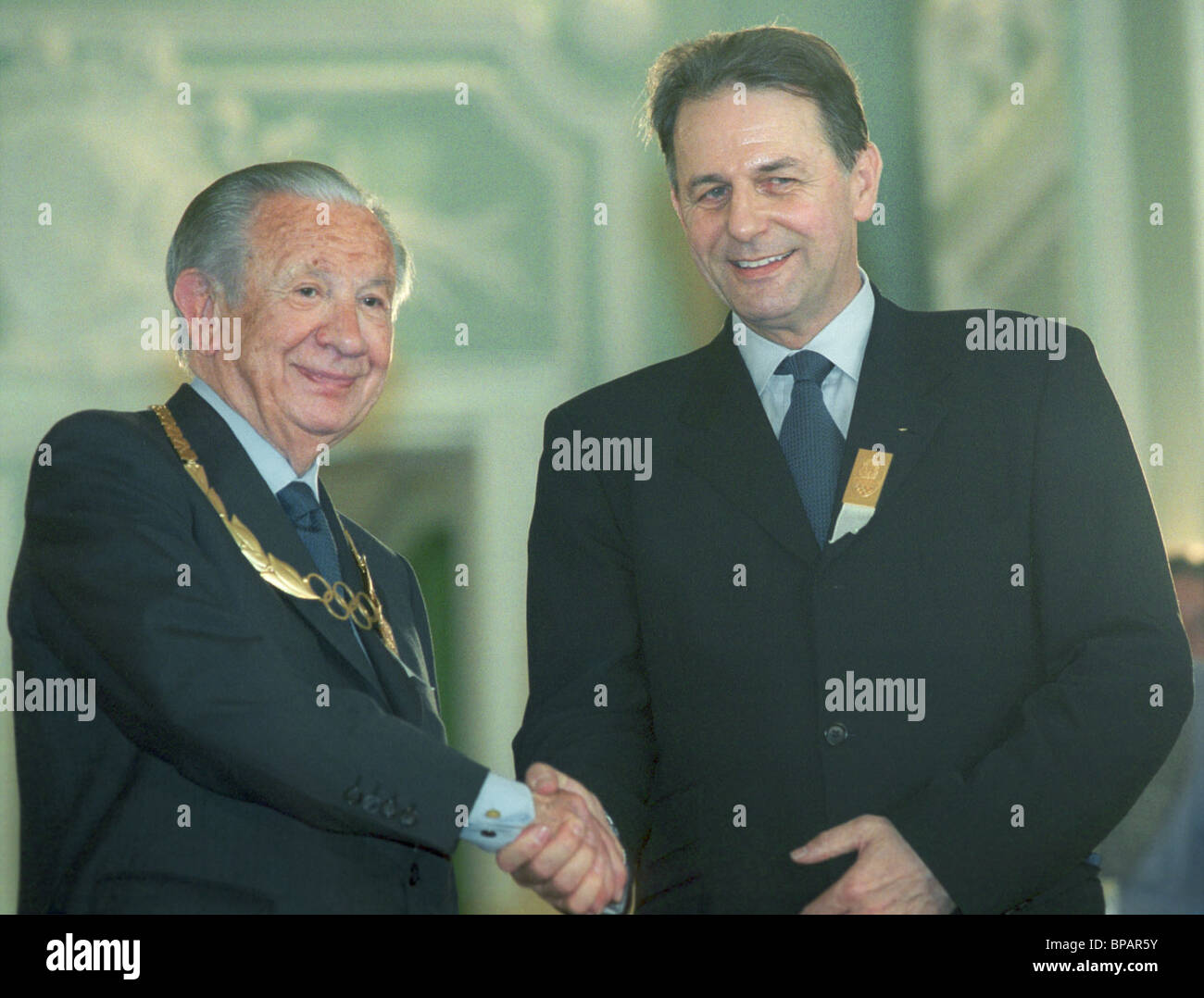 Jacques Rogge elected the IOC president. - Stock Image