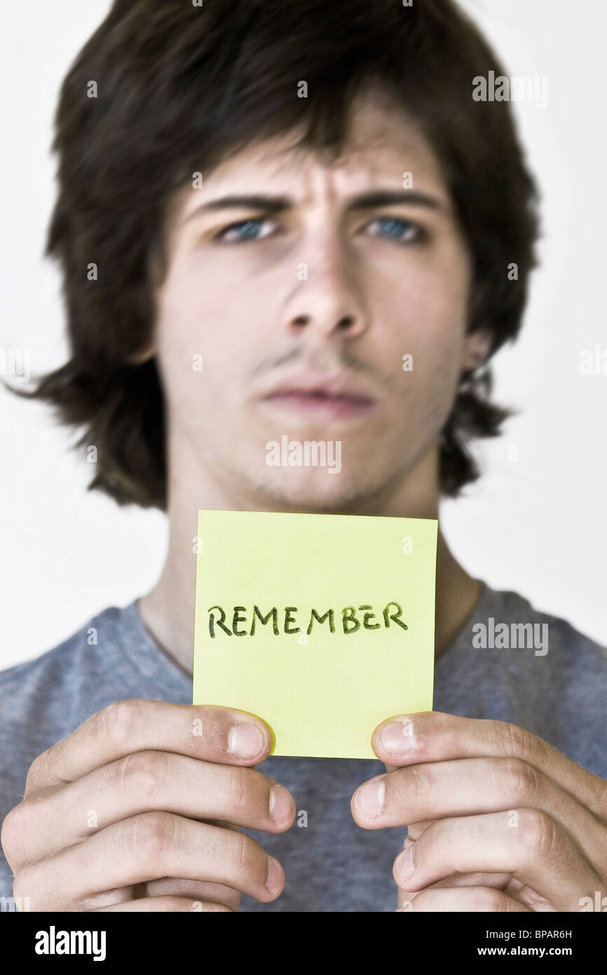 young people, message, remember Stock Photo