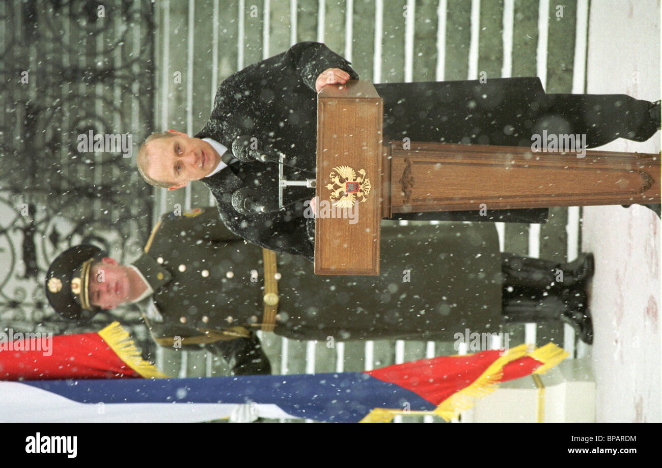 President of Russia Vladimir Putin attends activities devoted to the Day of Defenders of Fatherland - Stock Image