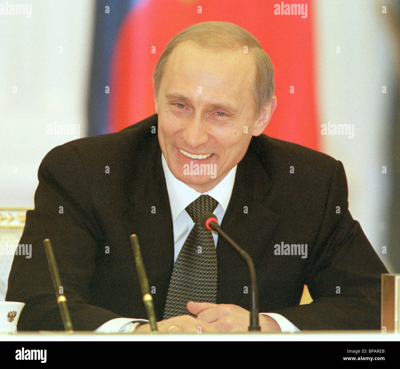 Vladimir Putin at the meeting of the Council for culture and arts. - Stock Image