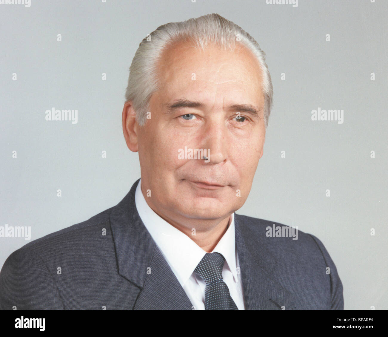 Head of Guards and KGB Protection Service Yuri Plekhanov, 1991 - Stock Image