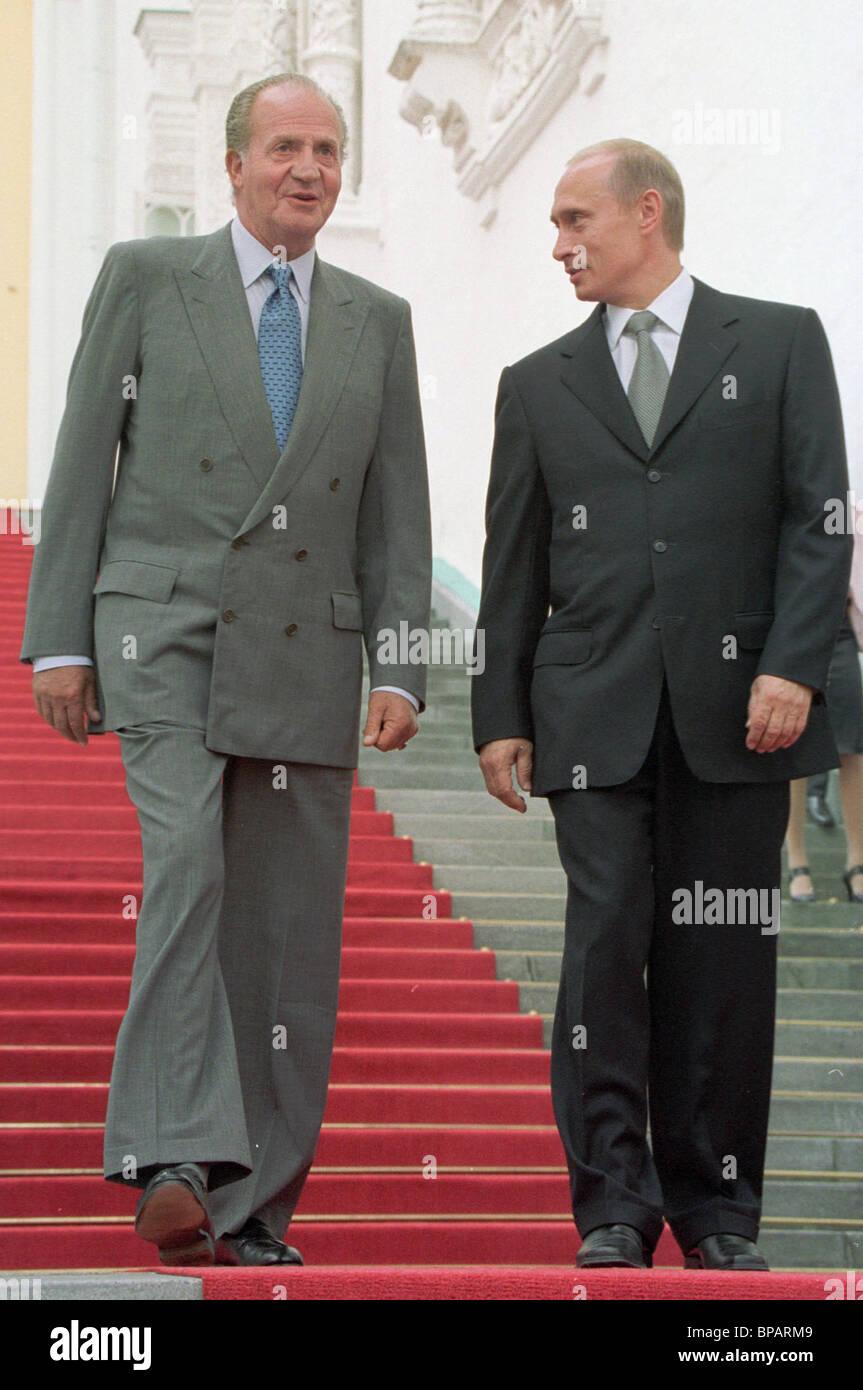 Putin, King Juan Carlos I of Spain touring Kremlin - Stock Image