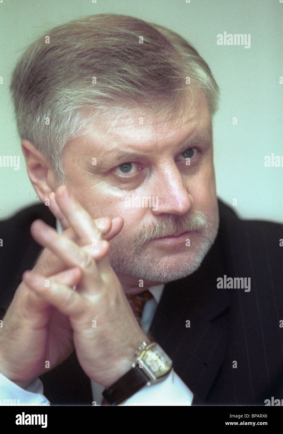 A year ago Sergei Mironov was elected chairman of the Federation Council - Stock Image