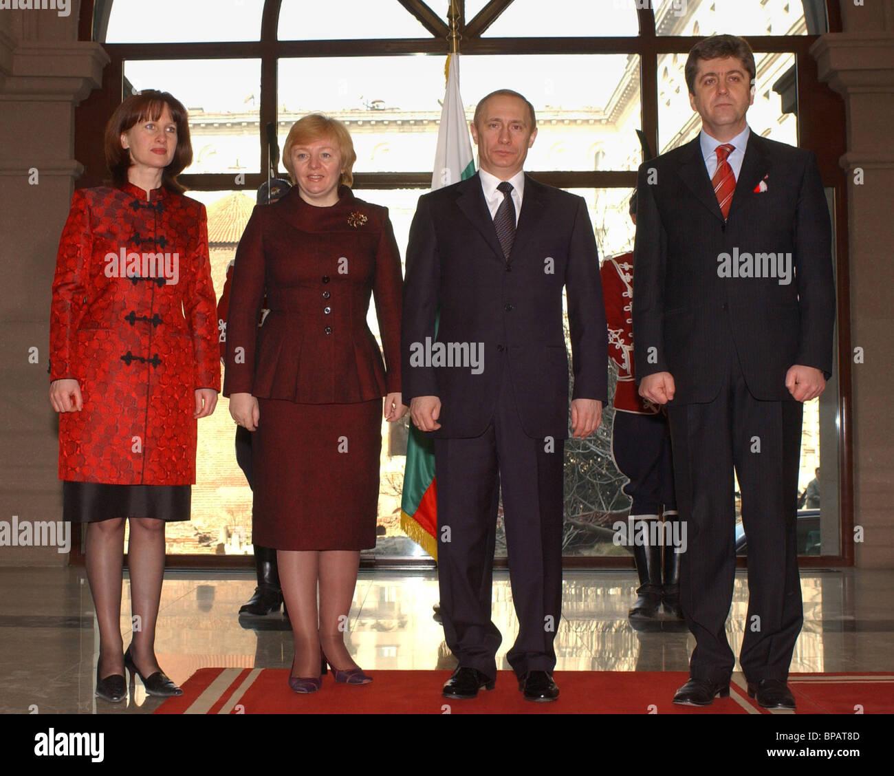 President Putin on a visit to Bulgaria - Stock Image