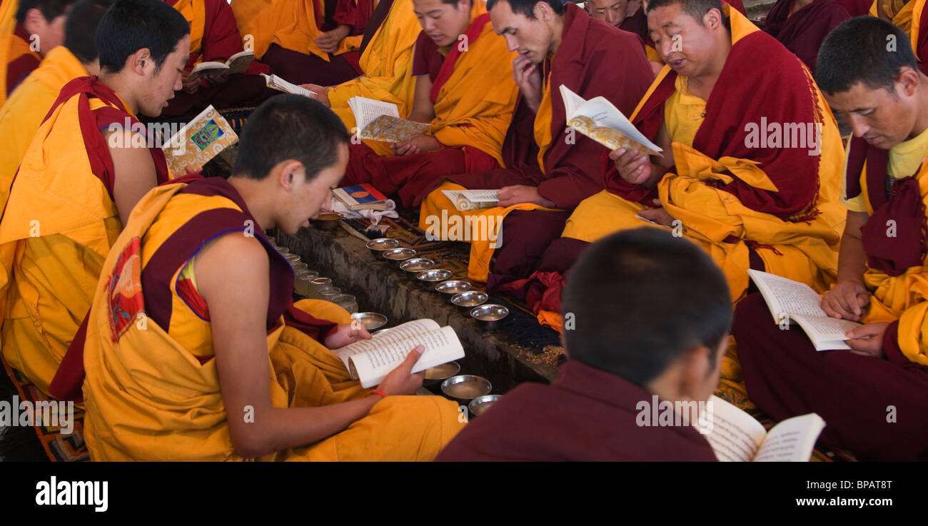 Buddhism Tradition Tibet Water Ceremony Litang - Stock Image