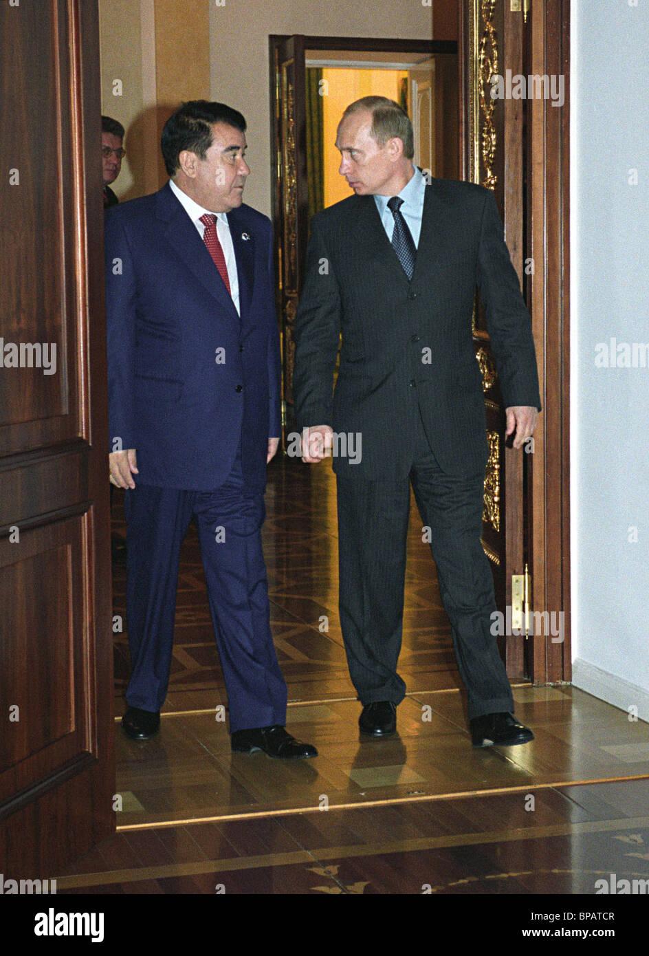 Putin met with Niyazov - Stock Image