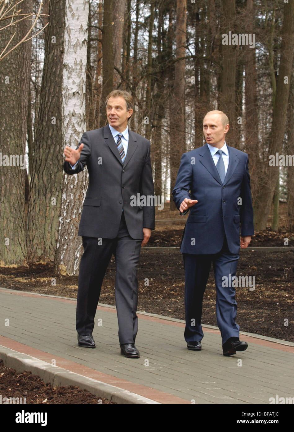 Putin holds meeting with Tony Blair - Stock Image