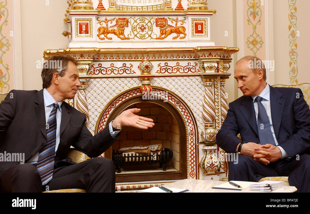 Putin holds talks with Tony Blair - Stock Image