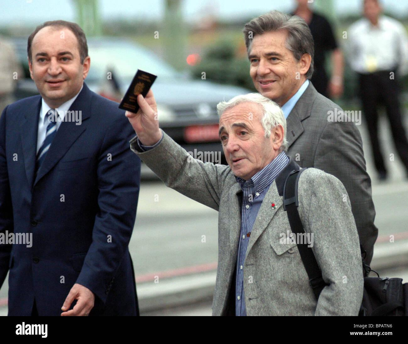 Charles Aznavour arrived at Yerevan - Stock Image