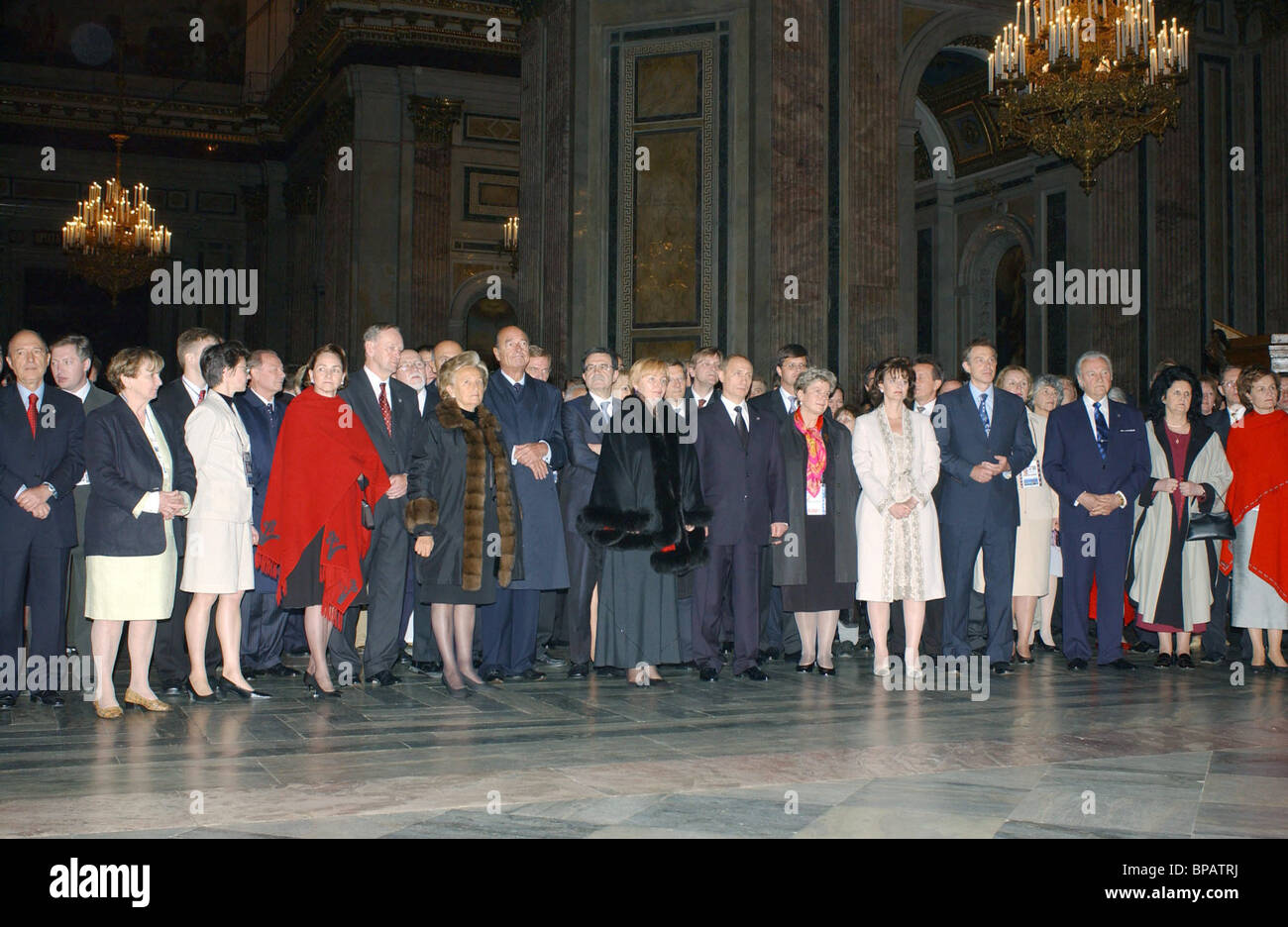 Putin, heads of states tour St Isaac Cathedral - Stock Image