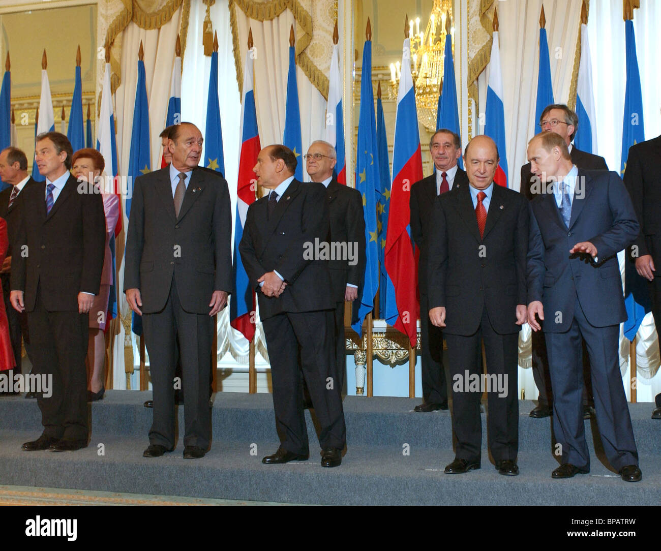 Russia-EU summit opens in Strelnya - Stock Image