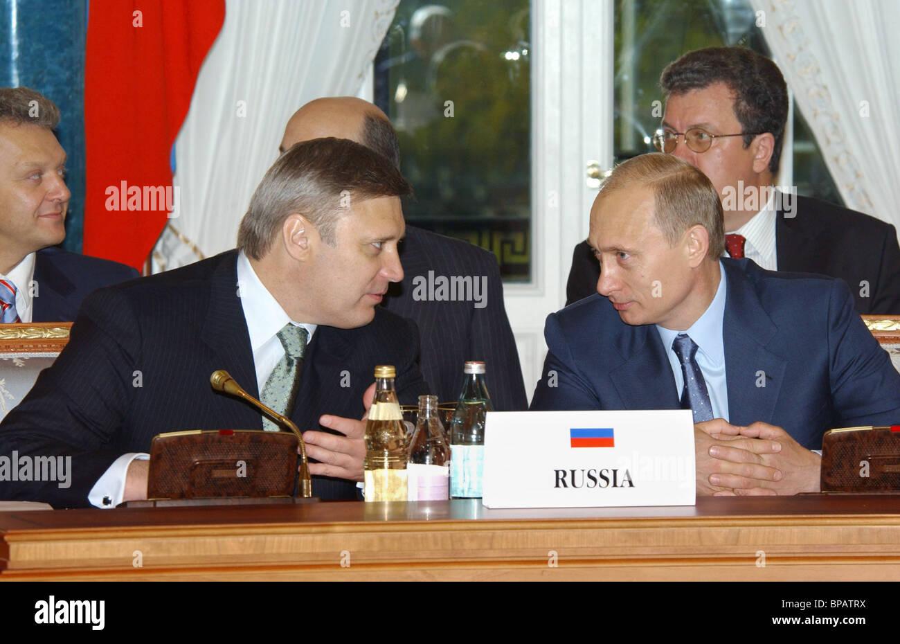 At Russia-EU summit in Strelnya - Stock Image