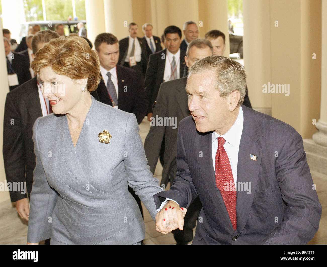 Visit of U.S.President George Bush to St.Petersburg Stock Photo