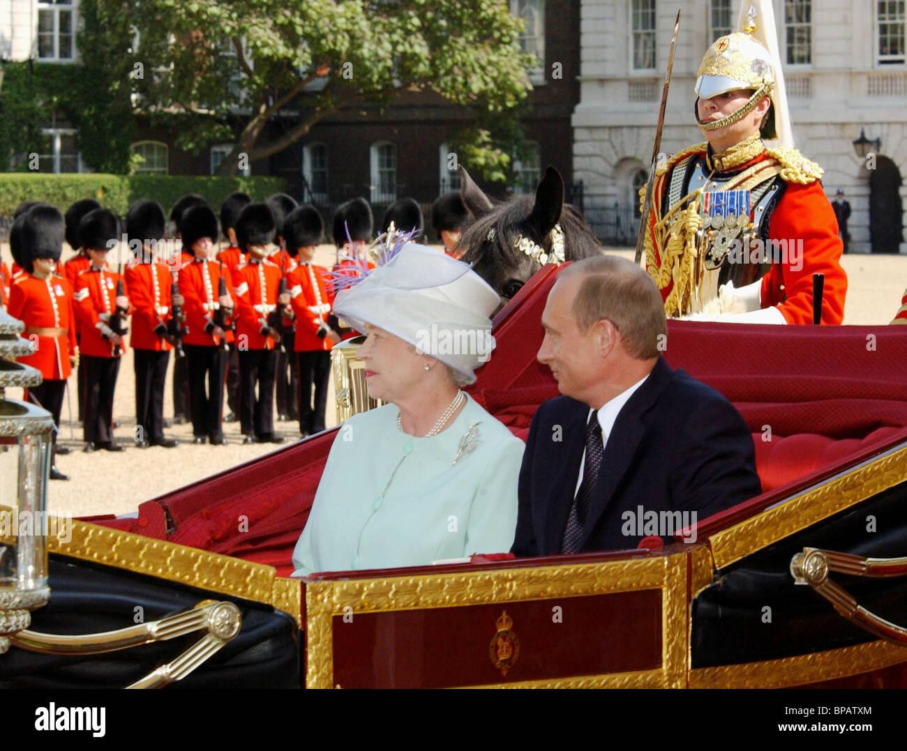 Putin's visit to Great Britain - Stock Image