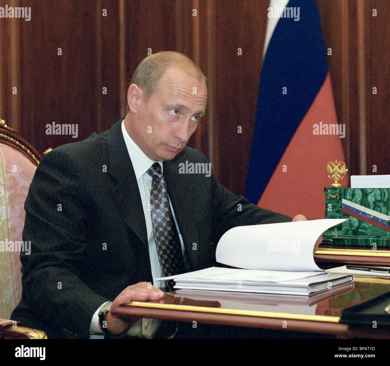President Putin meets with Health Minister Yury Shevchenko - Stock Image