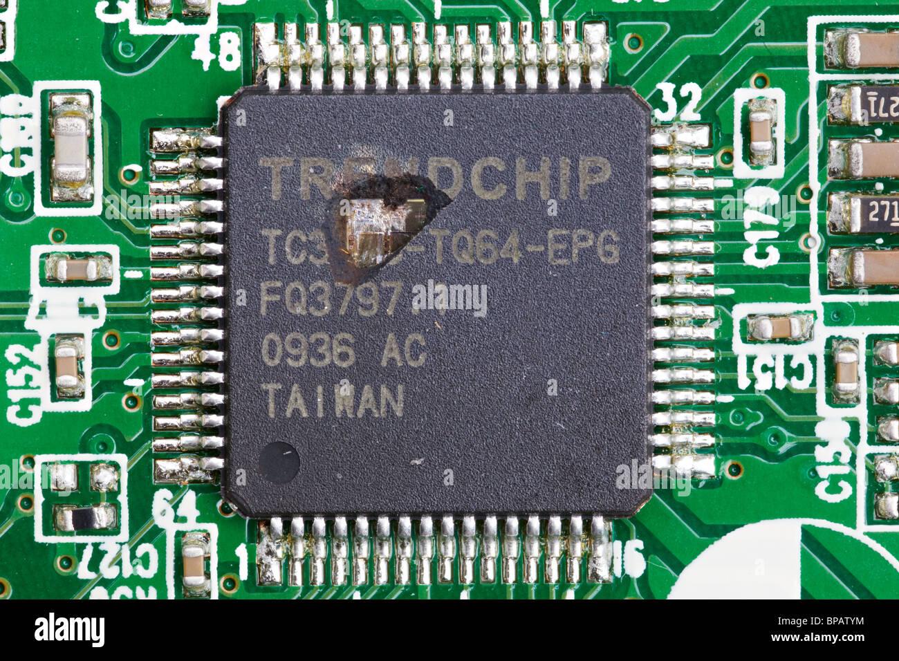 Lightning Damage to Electronic Equipment - Stock Image