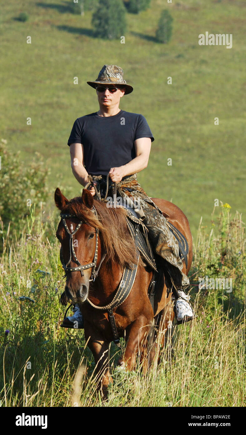 Putin in Altai - Stock Image
