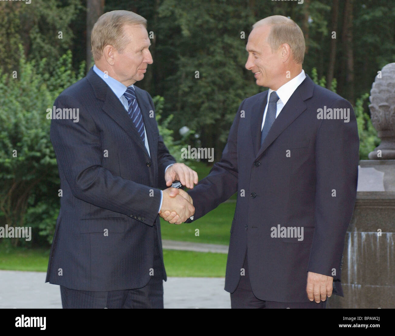 Putin-Kuchma meeting - Stock Image