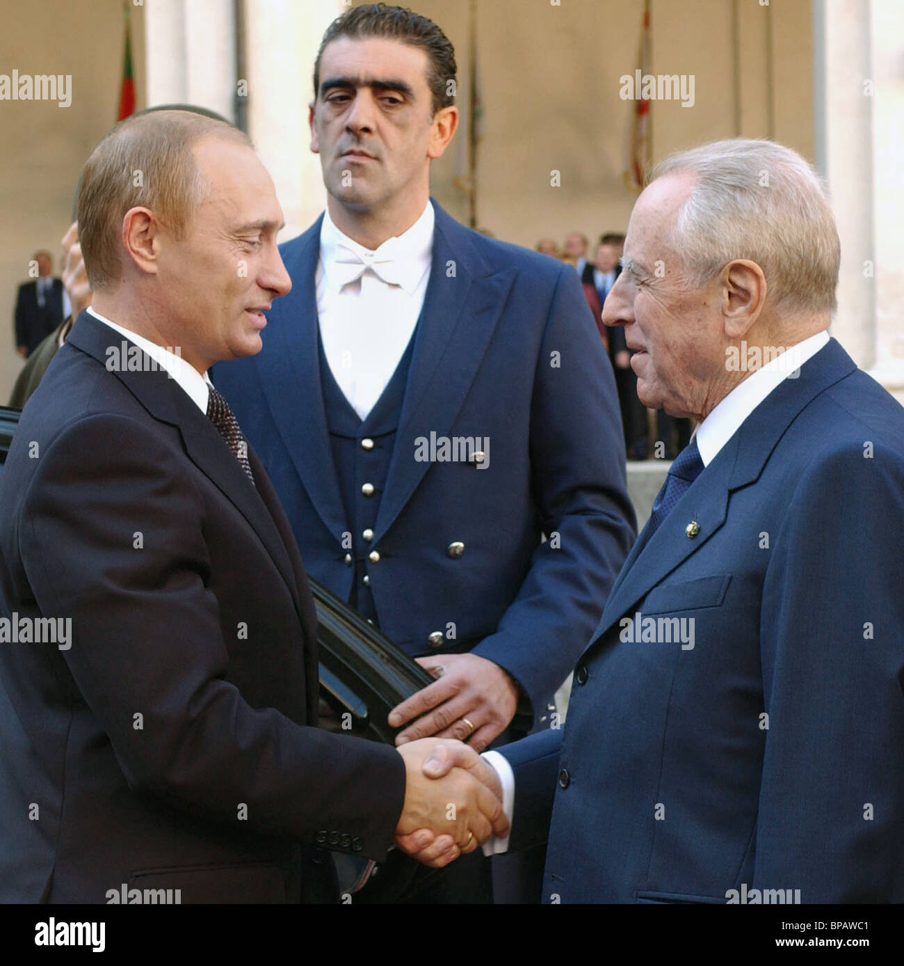 Meeting of Presidents of Russia and Italy - Stock Image