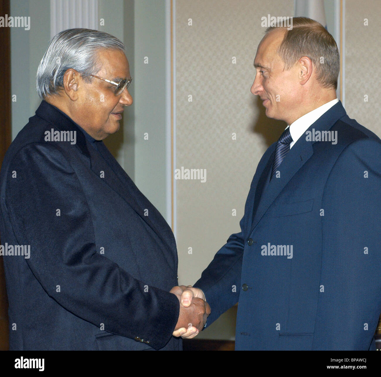 Meeting of President of Russia with Prime Minister of India - Stock Image